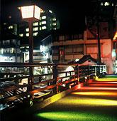 湯村温泉 ライトアップ